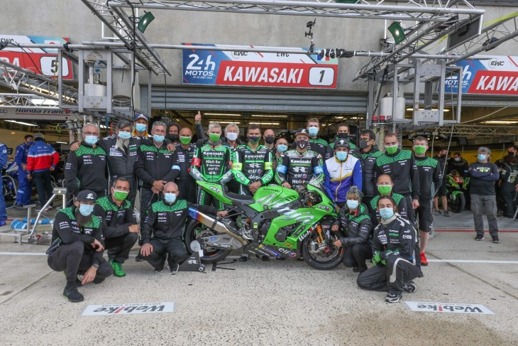 Webike SRC Kawasaki France TRICKSTAR] 2nd place podium finish in EWC Round 3, 24 Hours of Bol d'Or!